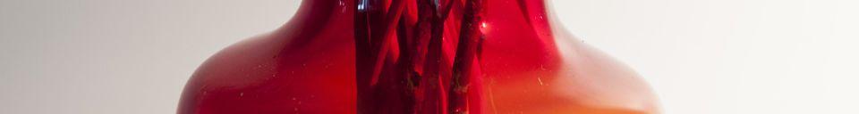 Materiali prima di tutto Vaso in vetro rosso Bobby