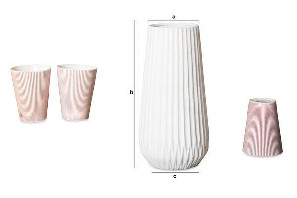 Dimensioni del prodotto Vaso Kamila
