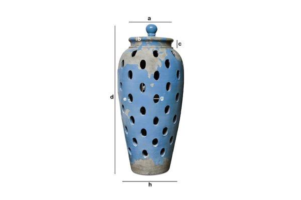 Dimensioni del prodotto Vaso lanterna Ilbarritz