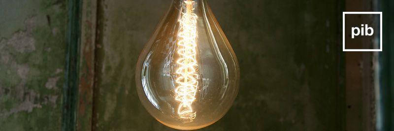 Vecchia collezione di lampadine