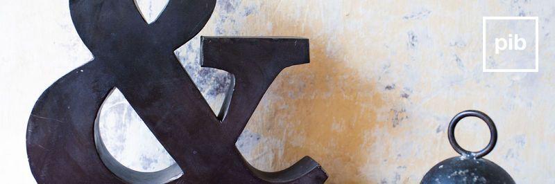 Vecchia collezione di lettere deco shabby chic